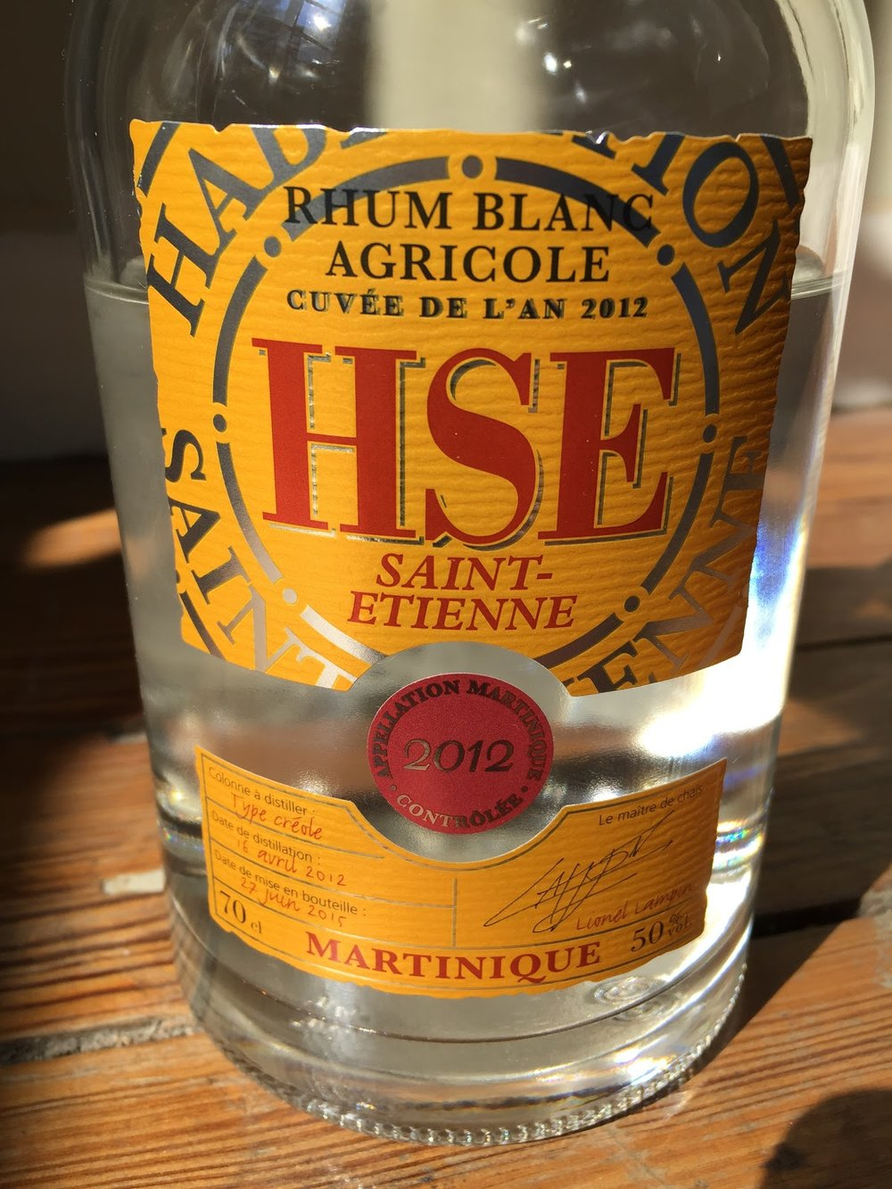 HSE rum from Martinique