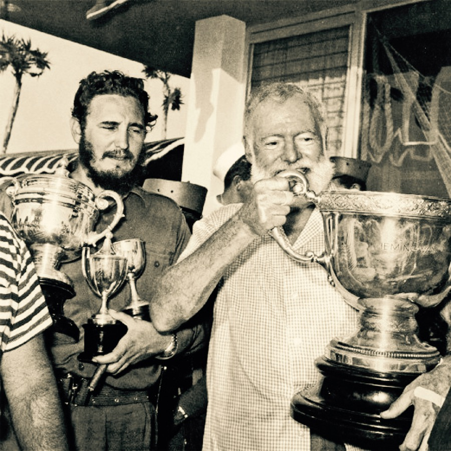 Fidel Castro    with    Ernest Hemingway    in the 1960s