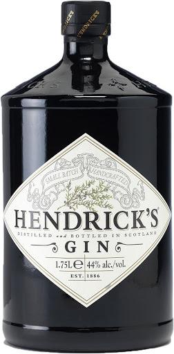 The premium Hendrick's gin, from Scotland