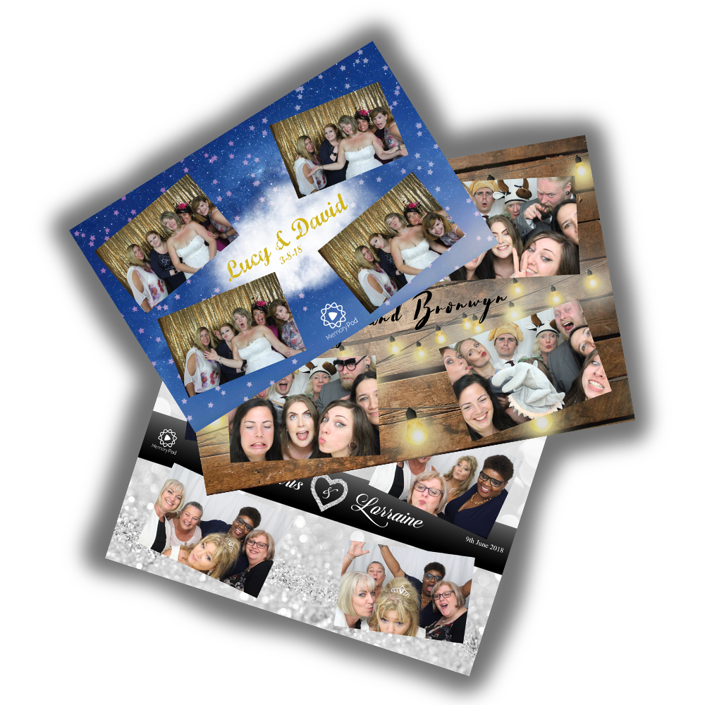 The Memory Pod – Custom Photo Booth Prints examples