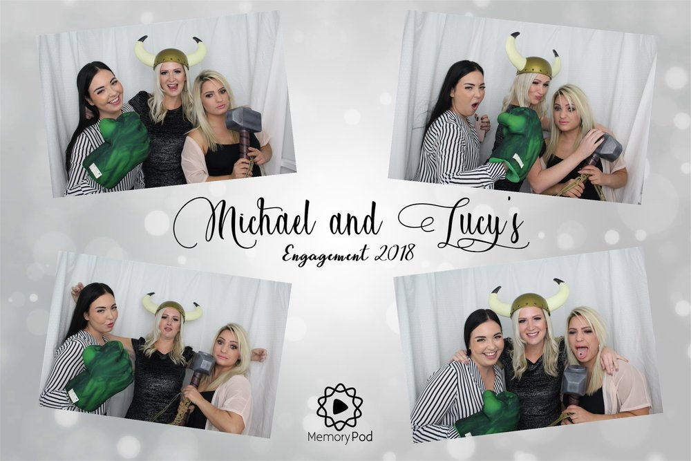 Private Photo Booth Hire Event – Michael and Lucy engagement