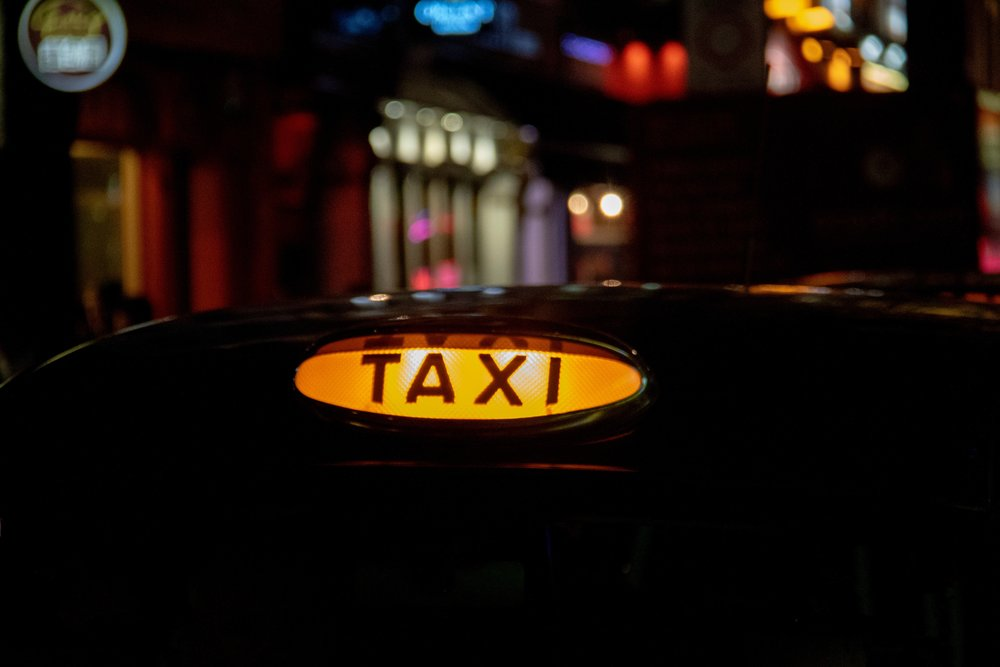 Find a taxi rank around the city, or hail a black cab from the street.