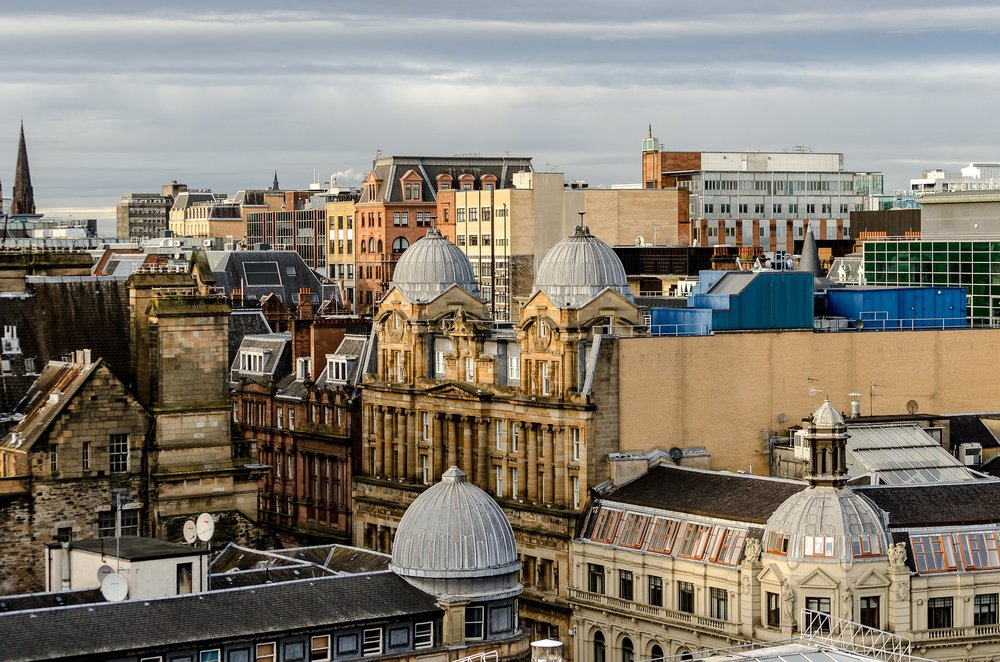 View of Glasgow rooftops from the Lighthouse