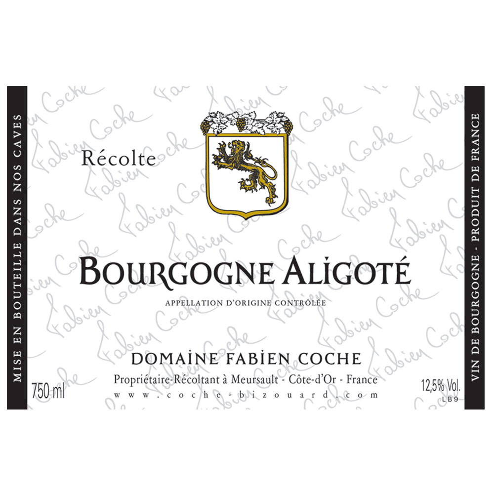 BOURGOGNE ALIGOTE     TECH SHEET
