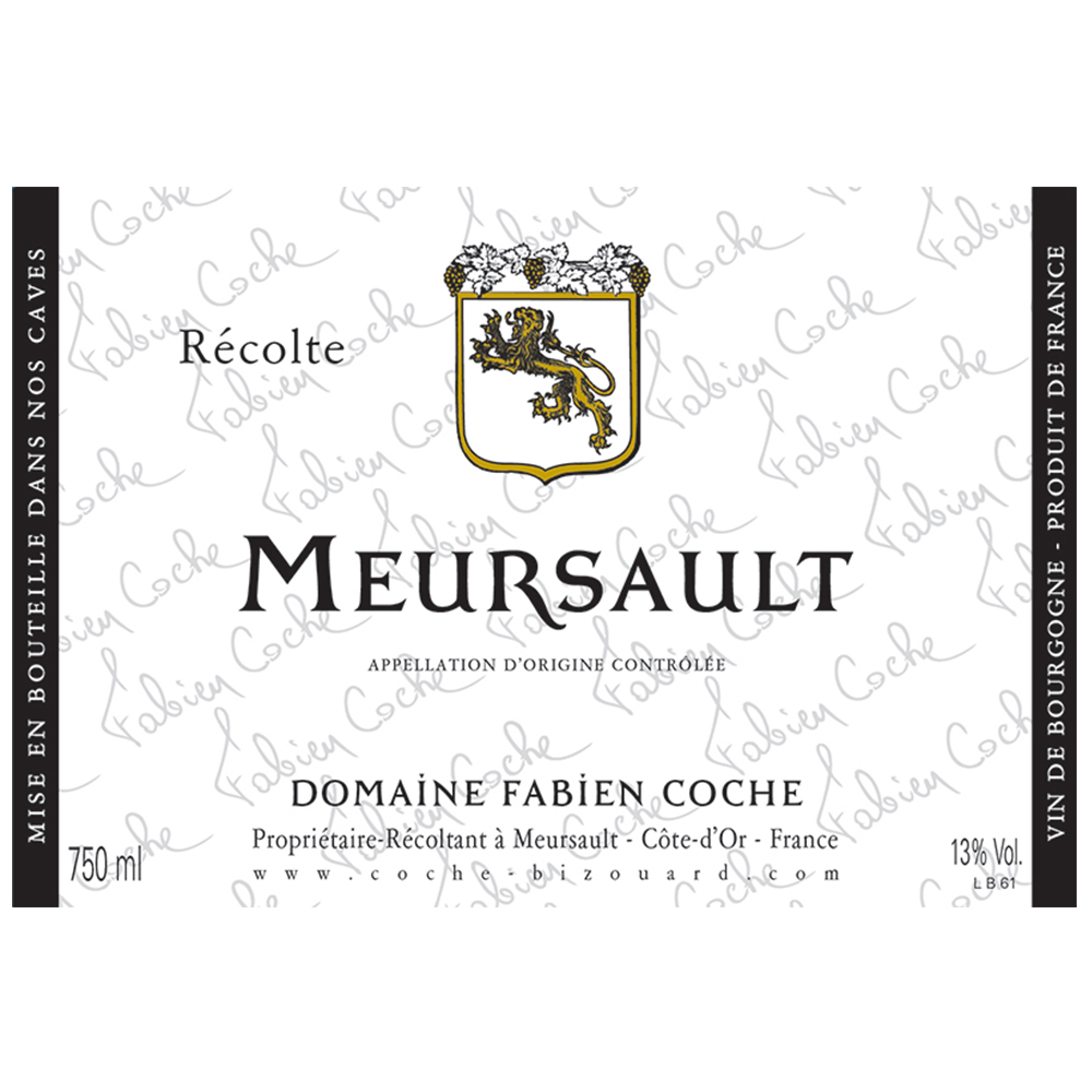 MEURSAULT BLANC    TECH SHEET