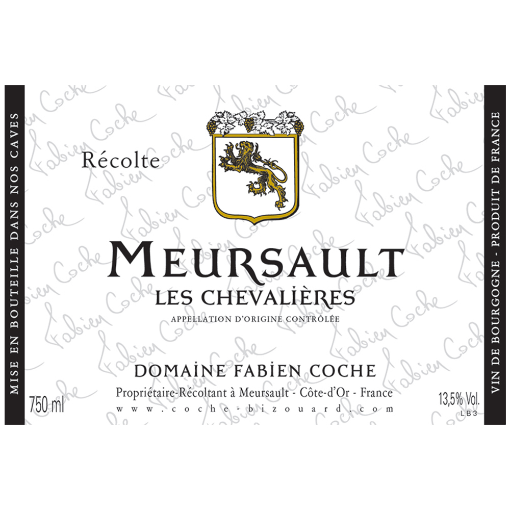 MEURSAULT LES CHEVALIERES    TECH SHEET