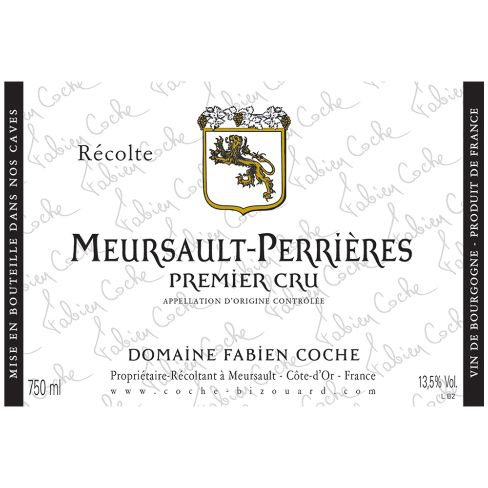 MEURSAULT-PERRIERES 1ER CRU    TECH SHEET