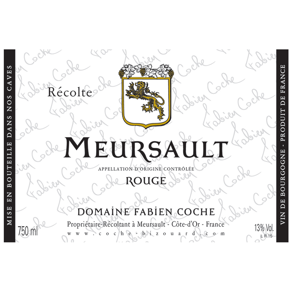 MEURSAULT ROUGE     TECH SHEET