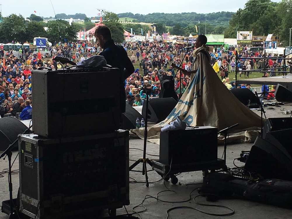 Roika opening Glastonbury 2016 in the dress