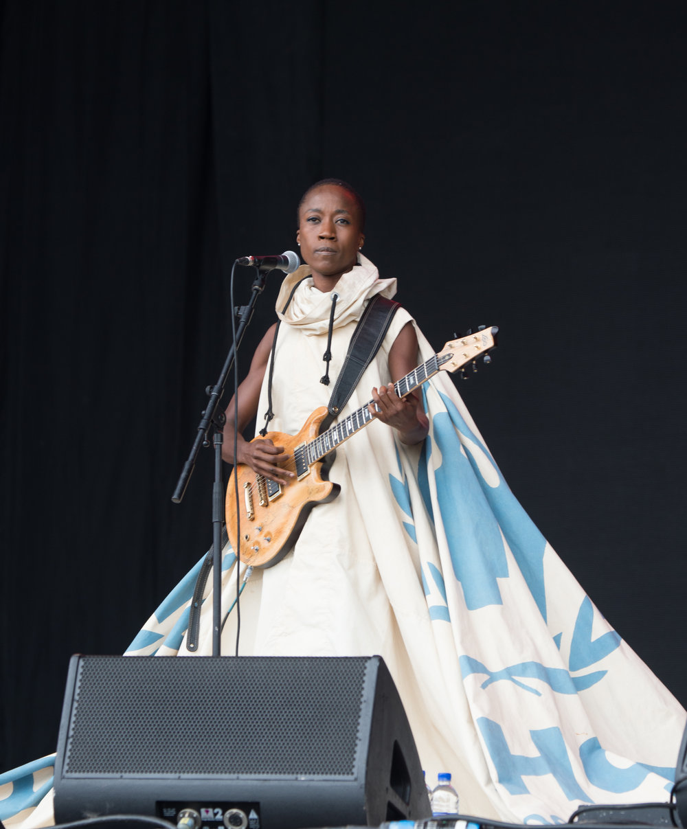 Rokia Traore opening on Pyramid Stage at Glastonbury 2016. Image by kind permission of Getty Images