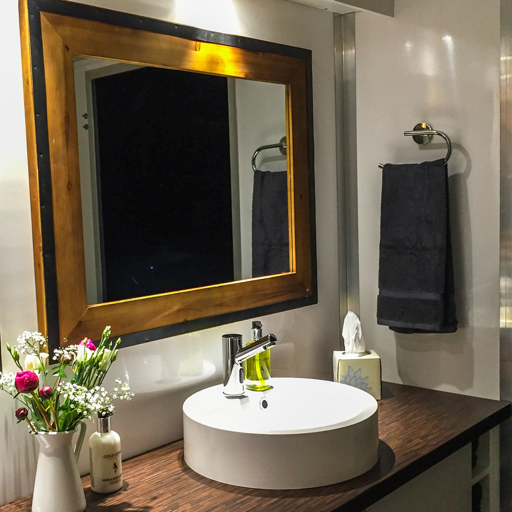 Soft Towels - Rather than paper towels, we use soft fluffy hand towels to give our toilets a more homely feel.