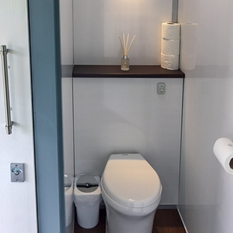Eco-Friendly - Our toilet system is a unique design which requires only half a litre of water per flush, unlike the average home which uses 6 litres per flush!