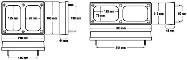 850-092H.V Surafce mount bracket twin diagram.jpg