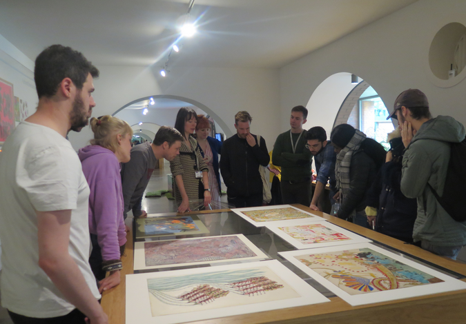 Looking through a selection of works from the Musgrave Kinley Outsider Art Collection on the second visit
