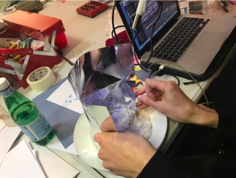 Alex's photo of experimentation in the studio