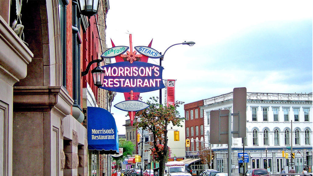 Morrison's - If your looking for a casual breakfast joint then there is no better place in Kingston. A very clean restaurant with friendly, accommodating staff. The breakfast is cheap, quick, reliable and delicious. The atmosphere is great and located on Springer Market Square it is very central! Morrisons is great for any occasions. Whether you are dining with your family or hungover and need a quick breakfast. On weekend morning it is always one of the busiest spots in Kingston.