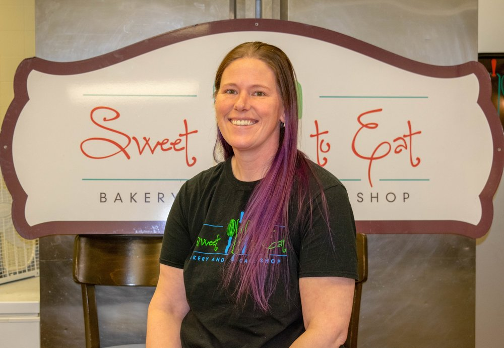 Rachael Owens, Owner and Head Baker - I grew up in a big family. My Mother would sign us up for the Farmer's Market, making cinnamon rolls and Kolaches. Fast forward to my 20's and I wanted to do something that I liked and I could meet new people. I started baking for the Ankeny's Farmer's Market and I did that for 8 years. I always wanted to have my own bakery. One day Michelle and I decided that we should go into business together. I love making breads, pies, and decorating cookies.In my free time, I am with my Pitbull Lucy and participating in 5k's, 10k's and half marathon's.