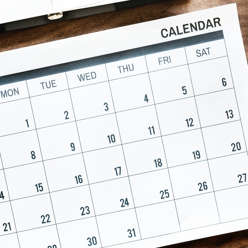 Calendar - Classes, Workshops, Events, etc.