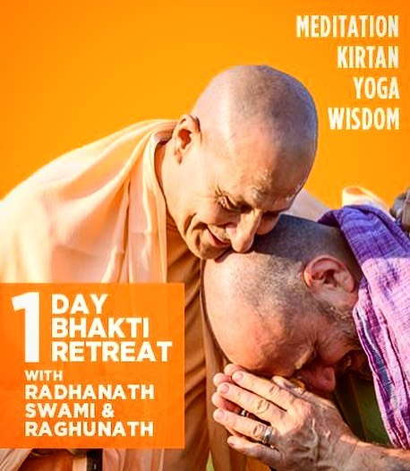 Honored to present with my teacher @radhanathswami at @bhakticenter in NYC.  I love this man and this community. This is a one day urban retreat and it sells out every year we do it! Book on line now to hold your spot!❤️🙏🏻#raghunathyogi #raycappo #messageofthebhagavat #radhanathswami ##livingyoga #bhaktiyoga