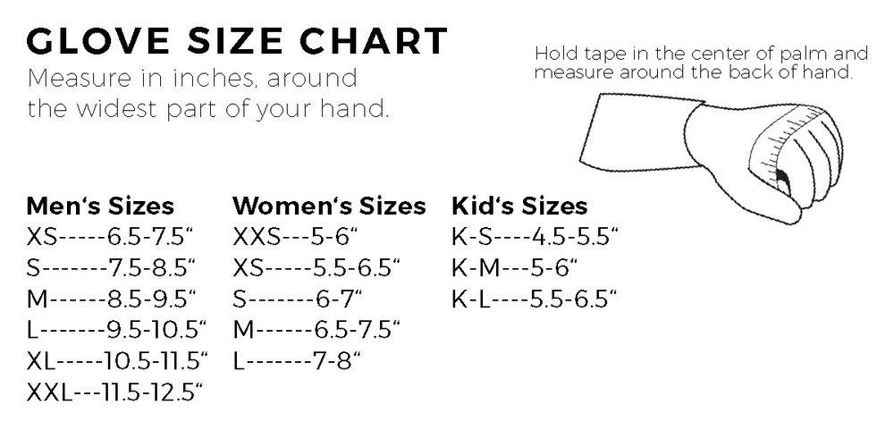 Glove Measuring Chart