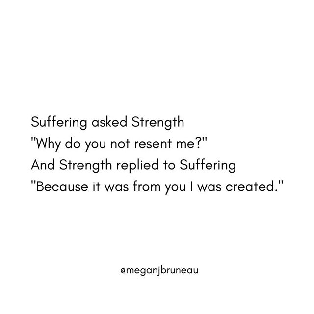 """I used to think I knew what strength was: kickboxing to Eminem, swearing and attitude, getting """"unbreakable"""" tattooed on me (true story). I used to think #strength was logic – never showing anyone the part of me that loves infinitely yet hurts acutely 💔. And so I resented my suffering for making me """"weak."""" . But yesterday, while practicing sitting with one of life's inevitable """"discomfort waves"""" (""""sitting"""" = walking along Park Ave listening to """"Superwoman"""" and crying [thank gawd for the @aliciakeys reminder Sun ✋🏻]), I thought to myself, what if I saw this moment of suffering as """"training?"""" 🤔 Being mindful not to spiritually bypass (e.g. """"Finding the positive!"""" or denying suffering), what if I felt the full experience of this moment while also seeing it as my emotional gym –  where I can practice self-compassion, perspective, and ultimately resilience? Where I can remind myself of impermanence, and how suffering is part of the common human experience, and just notice the sensations? . . Today I know strength isn't suppressing suffering; it's being with it. So I thanked suffering for teaching me said strength (among other things). And then I wrote this poem because I'm emo like that...thankfully😜. #loveyourselfthroughit"""