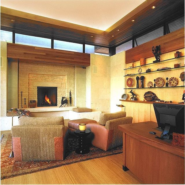 is everyone ready for a cozy weekend by the fire? since we don't have a fireplace in our office fires are frowned upon in here. so we are counting on you to tell us about your cozy fireplace set up!  Photographer: Bill Zeldis  Architect: @nmaarchitects  Contractor: Paul Franz Construction  #sowarmandcozy #rainydays #powellelectricinc #carpinteria #summerland #montecito #santabarbara #hoperanch