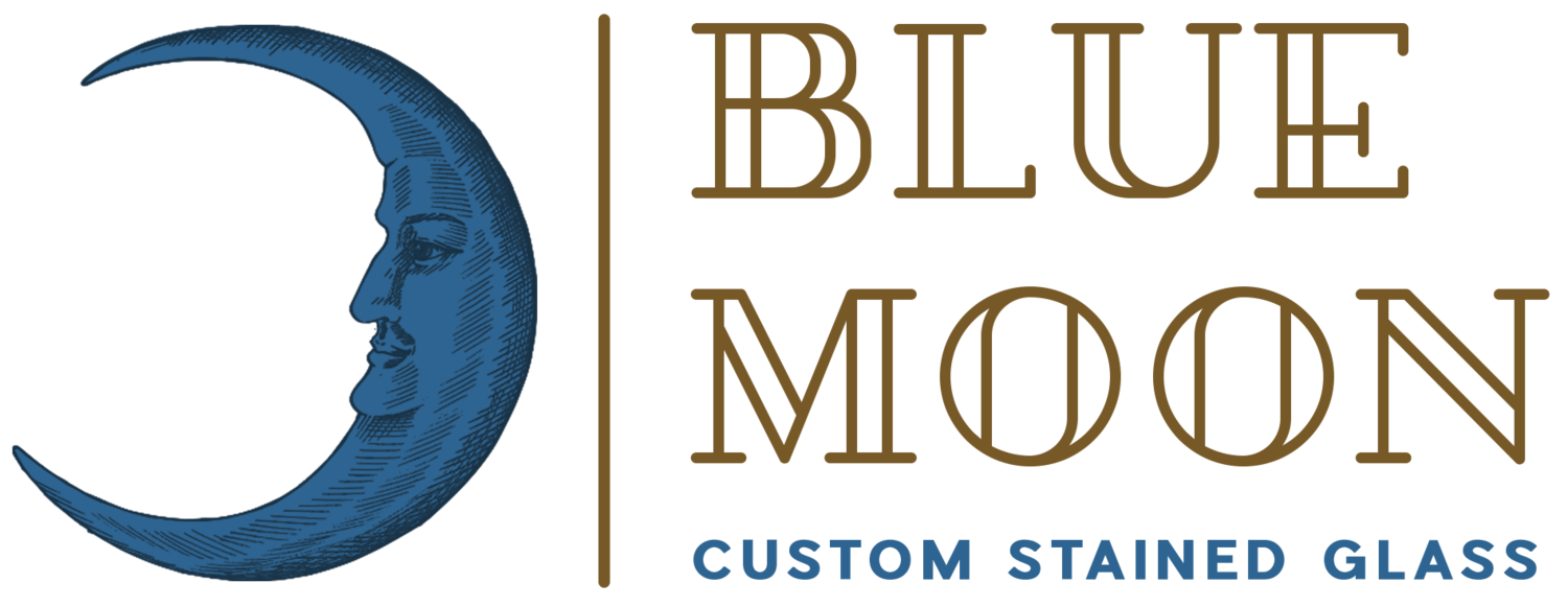 Blue Moon Custom Stained Glass