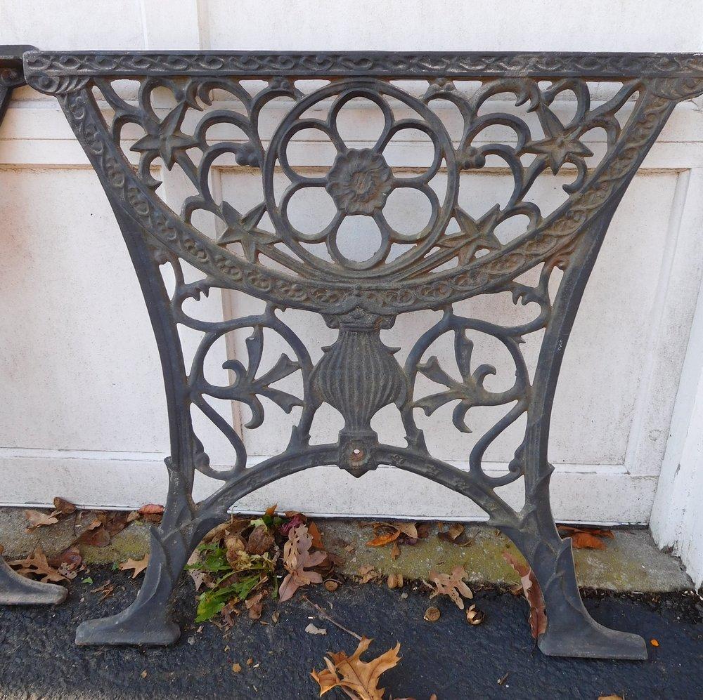 "Ornate wrought iron 27"" W x 25"" H"