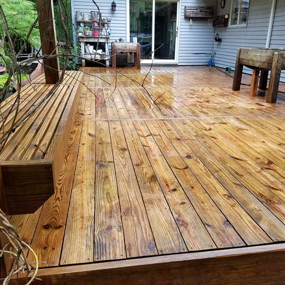 Bright and Clean Deck -