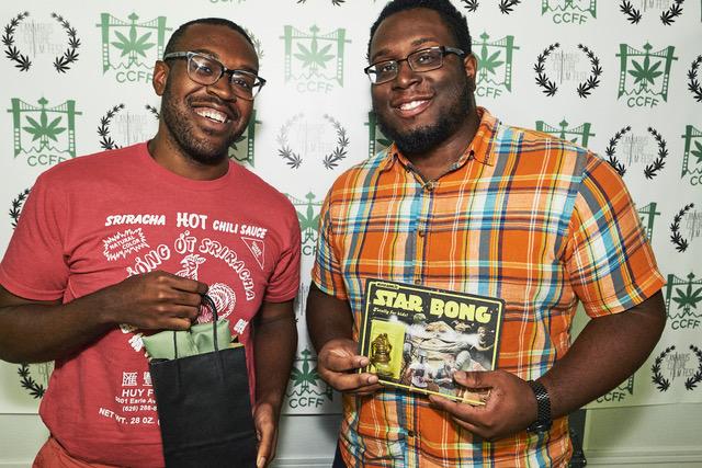 Co-Directors Desmond Thorne & Cris Thorne at CannaBus Culture Film Fest