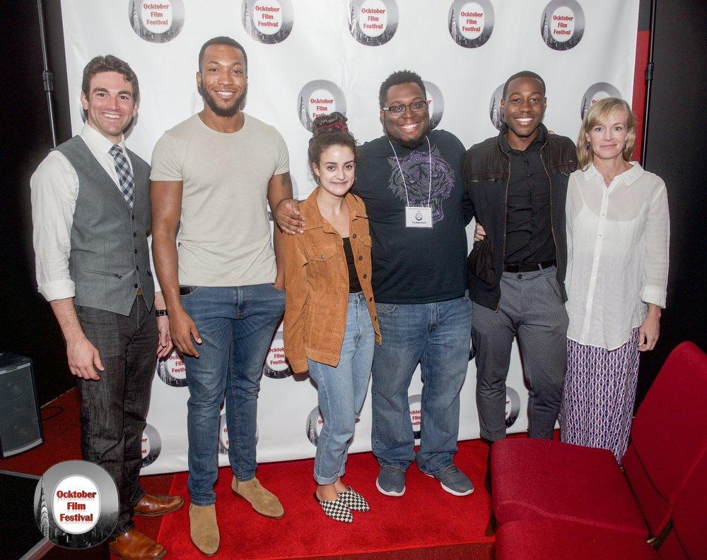 Members of the Cast w/ Cris Thorne at Ocktober Film Fest