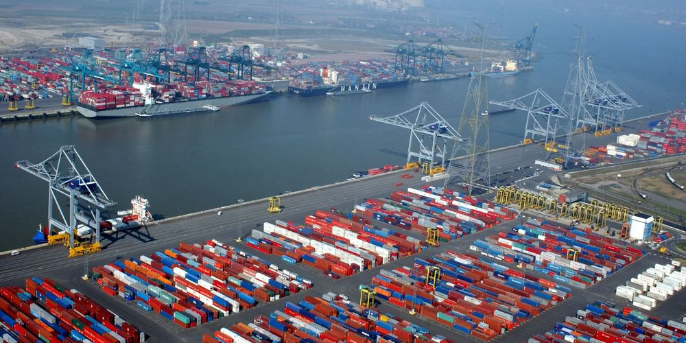 The Port of Antwerp is ranked Europe's 2nd largest international port.