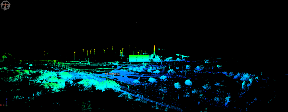 GIS Day point cloud of the Delmar Center for Economic Development locale.