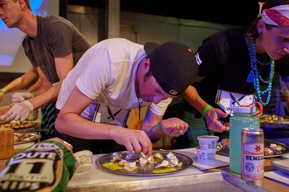 Alex Armstrong, Nick Bayne, Quinn Kenworth and seven other cheesemongers create cheese pairings under time pressure at the Cheesemonger Invitational.  STEVE REMICH FOR THE WALL STREET JOURNAL
