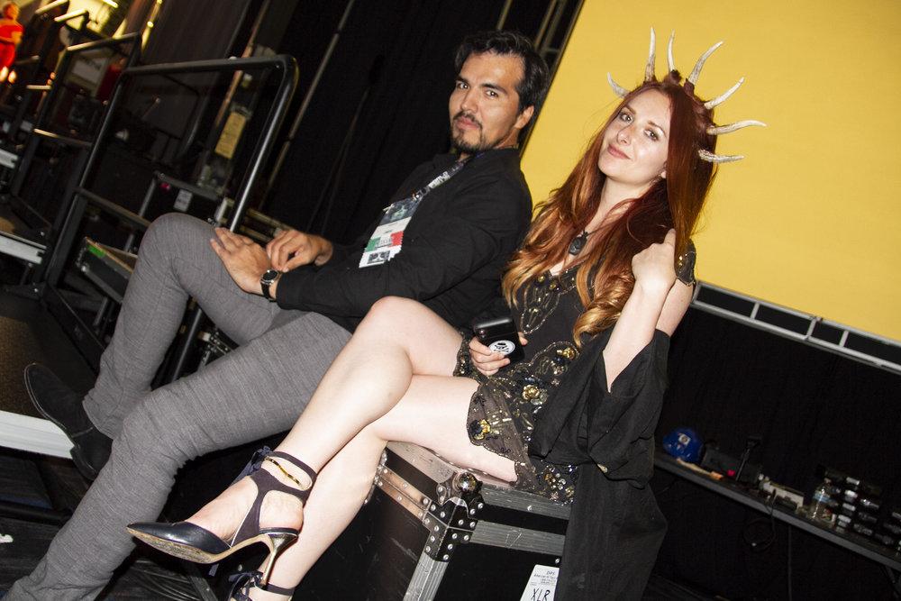 Alberto Peña and Tehani Farr on Hugo night