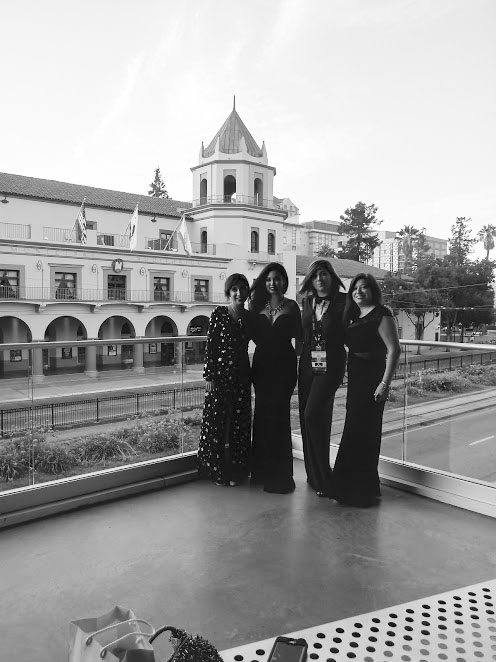 Smok, Vania Soto, Mariana Palova, and Adria Gonzalez all dressed up for Hugo night