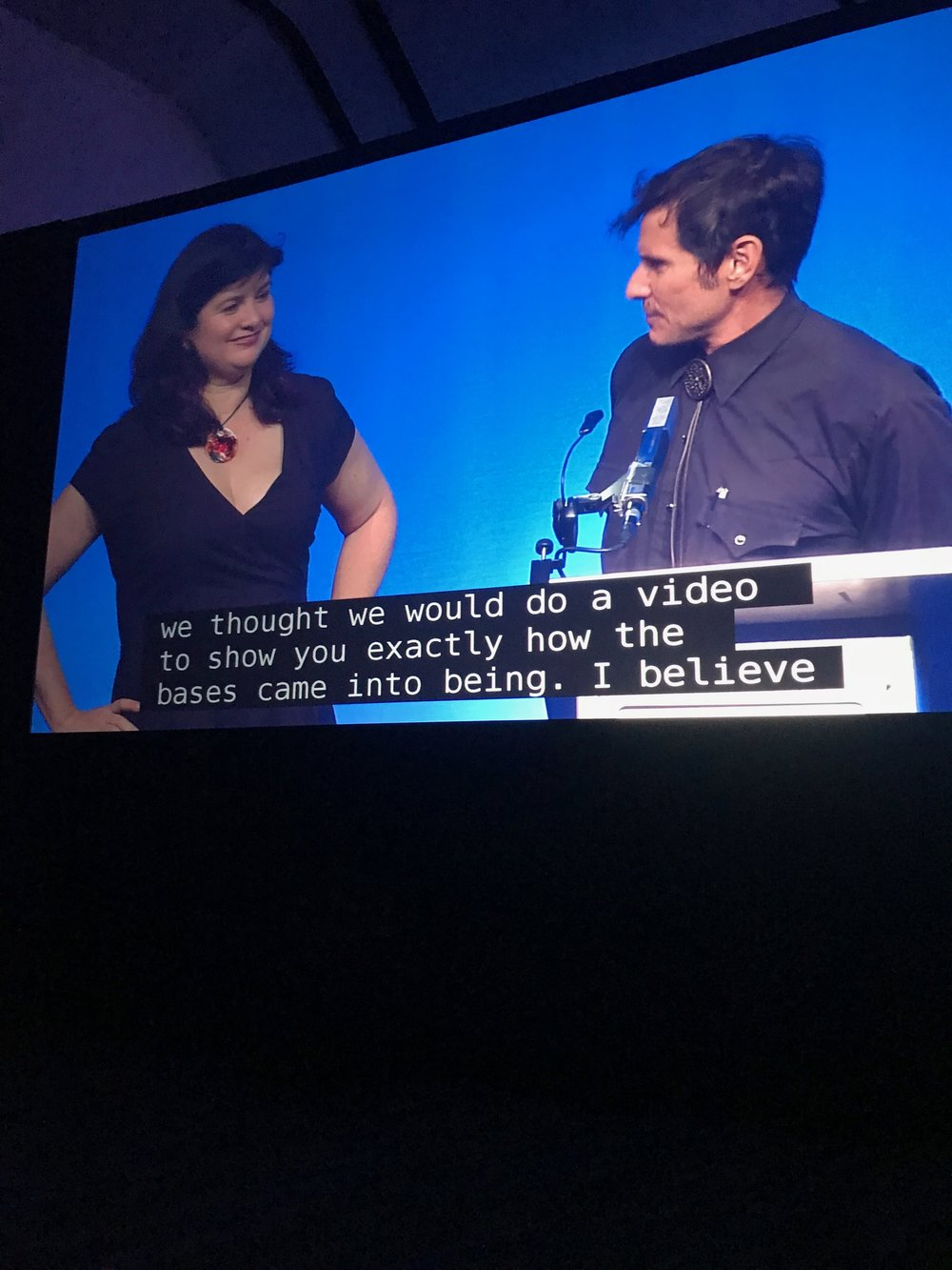 Sara Felix and Vincent Villafranca talk about their experience designing the Hugo Award base at the Hugo Award Ceremony during Worldcon 76
