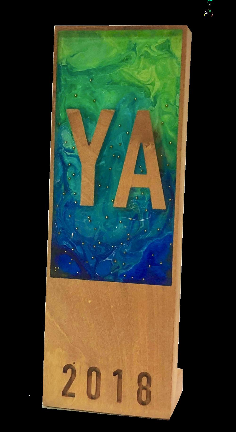 2018 YA Award designed by Sara Felix