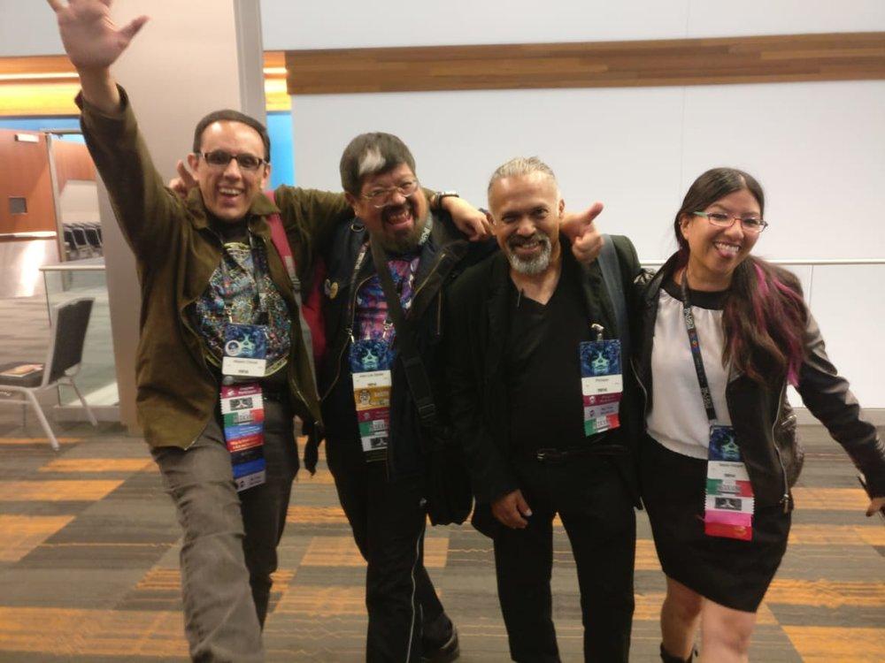 Alberto Chimal, José Luis Zárate, Gerardo Horacio Porcayo, and Iliana Vargas