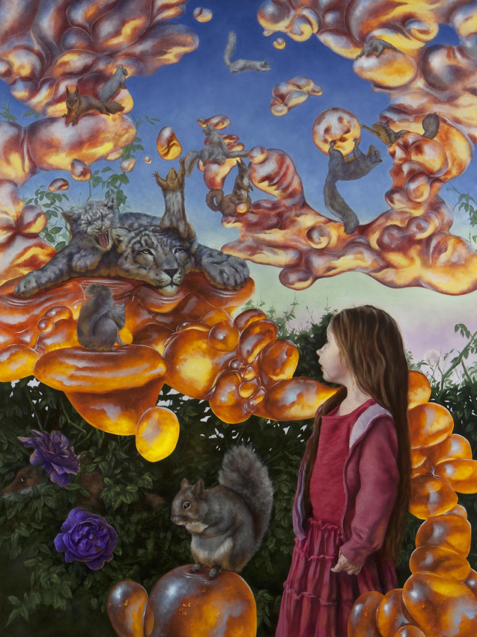 """Wonder"" by Cody Jimenez, Oil on panel, 48in x 36in, 2017 (Cody Jimenez)"