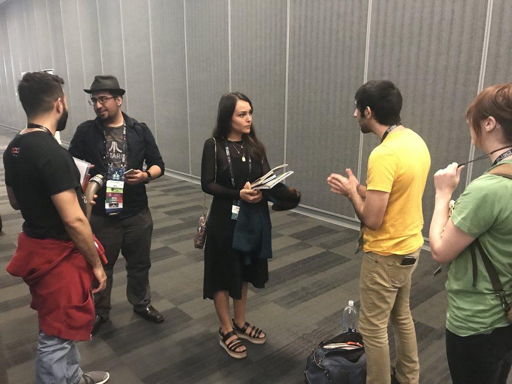 Adrian Molina, Rick Canfield, Ana Ramirez, Gonzalo Alvarez, and Grace Chadwick (Photo by Julia Rios)