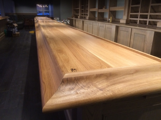 Bar top and charcuterie boards at Great Wagon Distillery.