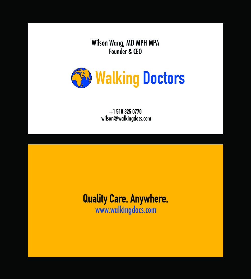 Logo & Business Card Design - For a non-profit organization engaged in international health work.