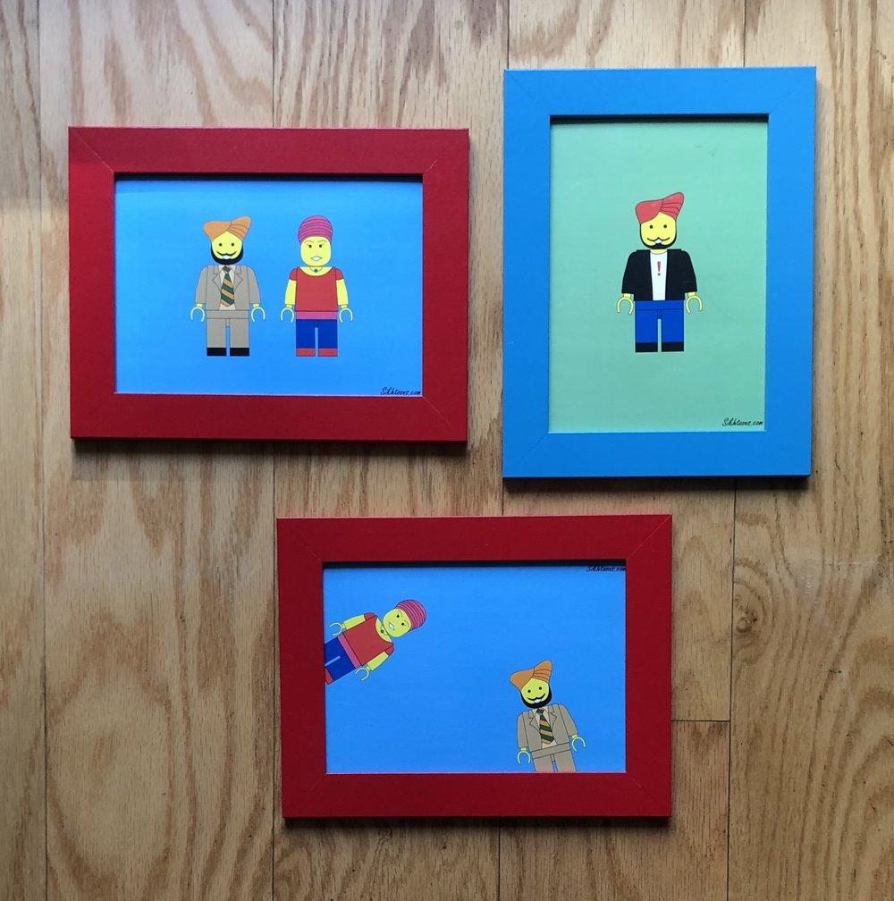 Lego Art - Custom lego mini-figures.