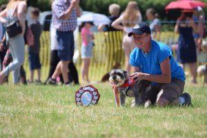 Merlin with mum Jan, winning the Dog of Courage Award, DBARC.  (Photo credit, Freya Northrup)