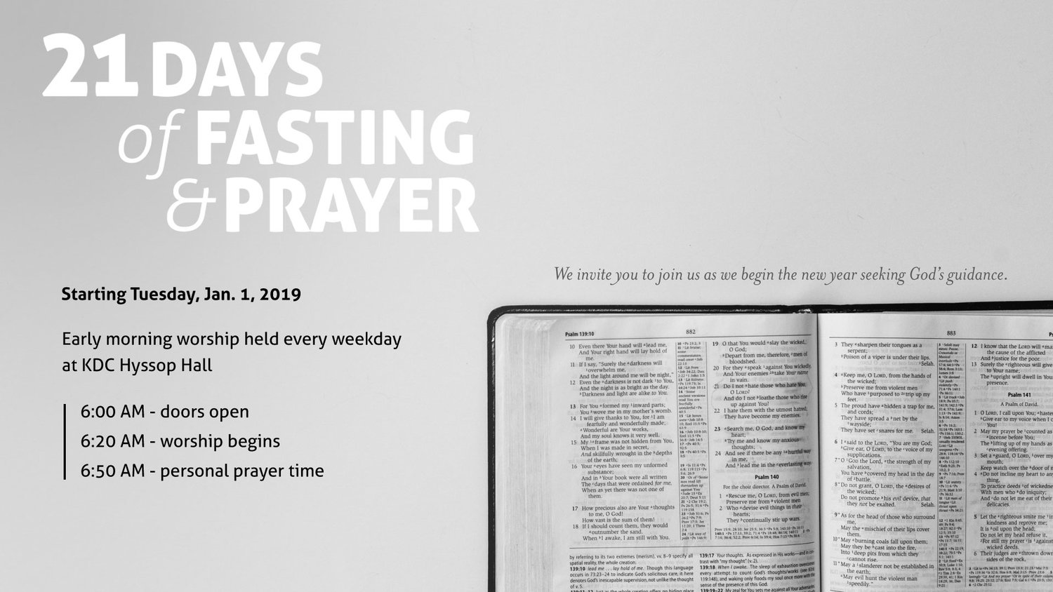 21 Days of Fasting and Prayer — HolyWave Ministry