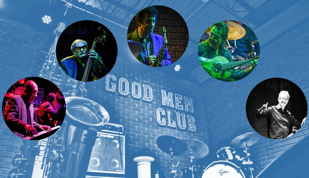 Our good friends and an exceptional jazz-men Nick Tesker - piano, Nick Schneider - bass, Erick Schneider - sax,  Alphonso Ponticelli - guitar and Bob Rummage - drums are back to Good Men Club with new program. Join us for an unforgettable night of a great jazz!