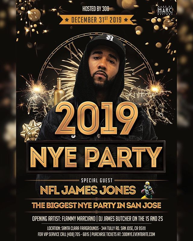 What are you doing New Year's?  Ring in 2019 at the Santa Clara County Fairgrounds with special guest James Jones!