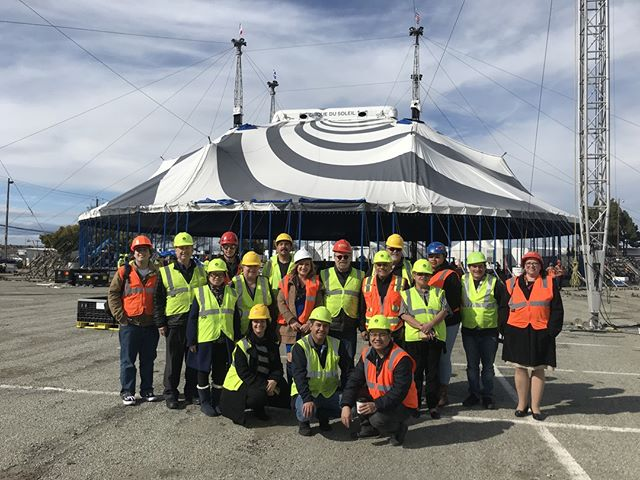 "Our team just got to watch Cirque du Soleil's Big Top Push from within the tent. Check out our Facebook page to see the live video! VOLTA begins February 13th, make sure to use the promo code ""VDAY"" to get a discount on your tickets."