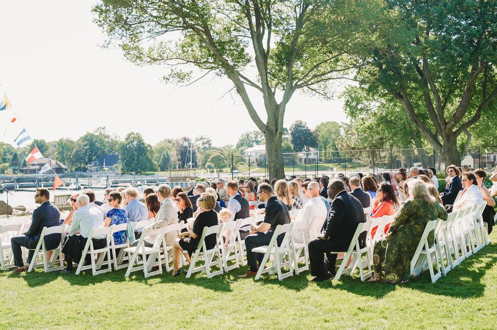 wedding guests outdoor wedding_stamford wedding CT
